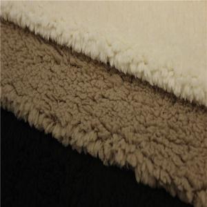 China sherpa lining fabric circular knitted fabric 280gsm fleece fabric on sale