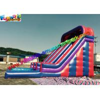 China Giant Outdoor Inflatable Water Slides Large With Splash Pool 10LX5.5Wx7H on sale