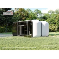 Buy cheap High Quality Luxury Glamping Tents Glamping Modular Box Lxurious Glass Wall product