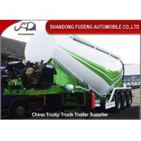 Quality 3 Axles Bulk Cement Tanker 30-75 CBM Mechanical / Air / Bogie Suspension for sale