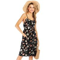 China Printed Women'S Sleeveless Summer Dresses / Womens Casual Day Dresses on sale