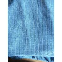 Buy cheap Microfiber Factory Blue 1.5m Width 320gsm Density Weft Big Grid Car Cleaning Cloth from wholesalers