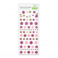 Buy cheap Colorful Glitter Flower Design Stickers For Children Create Craft 50 pcs Size 17*7.5cm Kids Fun Labels product