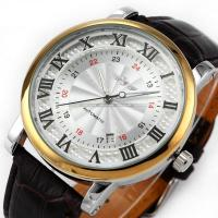 Buy cheap Durable Leather Classic Wrist Watch Winner With Automatic Mechanical Date product