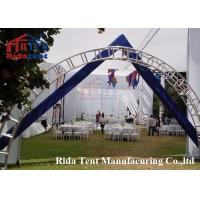 Buy cheap 6082 Aluminum Stage Roof Truss / Light Weight Stage Lighting Scaffolding Boda product