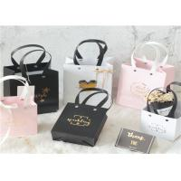 China Kraft Custom Paper Shopping Bags , Nordic Style Clothing Side Gusset Bag on sale