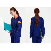 China Cool Mechanic Work Uniforms Sweat - Absorbent With Long Jacket And Dark Blue Pants on sale
