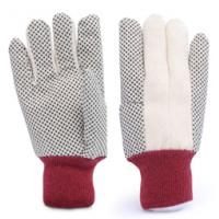 Buy cheap 8OZ one side cotton 100% canvas PVC dotted gloves product