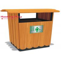Buy cheap Wood Plastic Composite Brown Outdoor Recycle Trash Cans Natural Environment Friendly product