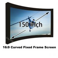 """Wholesale Low Price Embowed Fixed Screen 150"""" Matt White 16:9 Projector Curtain HD 4K"""