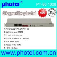 Buy cheap Wholesale 4/8 E1(75 or 120 ohm) Optical Multiplexer PDH MUX with 10/100Mbps and 4*RS232 product