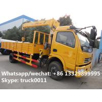 Buy cheap Dongfeng duolika 4*2 LHD 4 ton military xcmg small truck crane for sale, best from wholesalers