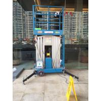 Buy cheap 10 M Aluminum Alloy Aerial Work Platform Manlift Double Vertical Platform Lift product