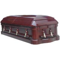 Buy cheap High Gloss Funeral Wooden Coffins With Glass Paulownia Casket 198*58*35 Cm product