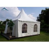 China 850g/Sqm PVC Polyester Coated Gazebo Tents White For Promotional Show on sale
