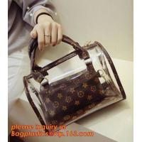 China travel stand up zipper pvc leather cosmetic pouch lady bag woman make up, mini Jelly Candy Bag, PVC Fashion Women Hand C on sale