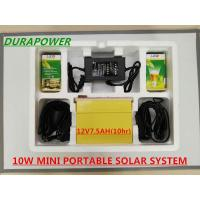 Buy cheap 10W MINI PORTABLE SOLAR SYSTEM /SOLAR POWER SYSTEM/SOLAR CAMPING SYSTEM  ON OFF GRID from wholesalers