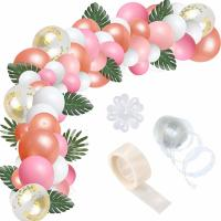 China Pink Pearlescent Helium Party Balloons Arch Garland Kit Confetti Balloons on sale