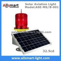 Buy cheap 32.5cd Low Intensity Solar Aviation Obstruction Light Warning Lamp for Communication Lattice Tower High Building Pole product