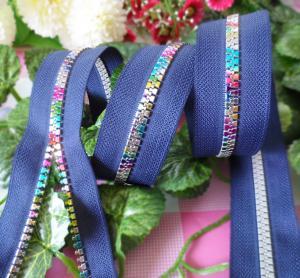 Buy cheap #8 Rainbow Teeth Resin Zipper , Vilson Zipper For Garment / Bags / Home Textile product