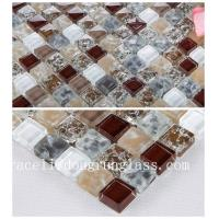Buy cheap Factory price 300*300mm 8mm thickness Mix-color crackle glass mosaic tile for background w product