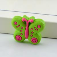 Buy cheap Colorful Butterfly Industrial Plastic Knob for Kids Small Soft Rubber Drawer Knobs product