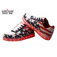 American Flag TPR Low Cut LED Casual Shoes Comfortable Night Glow Sneakers