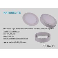 China Led Panel Light 12W With Embedded / Surface Mounting Methods Together wholesale