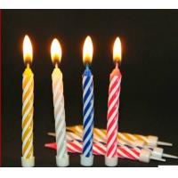 China spiral shaped birthday candle on sale