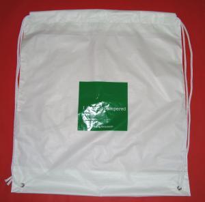 Buy cheap Le sac à dos en plastique léger blanc de cordon met en sac pour le téléphone portable/Handphone product