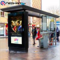 Buy cheap Bus Station Smart Outdoor Digital Signage Display with Roof 2000 nits Full High Definition 1080P from wholesalers