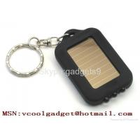China Mini Solar Power Rechargeable 3 LED Torch Light Keychain on sale