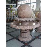 Buy cheap Lantern Product Namered line marble two-layer fortune ball sculpture product
