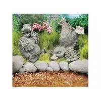 China Polyresin Statues Resin Sitting Laughing Duck Statue on sale
