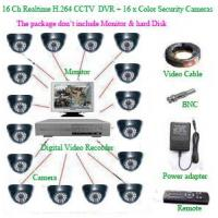 Buy cheap CCTV PRODUCTS 16Ch Realtime H.264 Network CCTV DVR+ 16 x Color dome Security Camera product