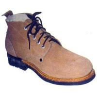 Buy cheap Middle upper brown cowhide safety shoes product
