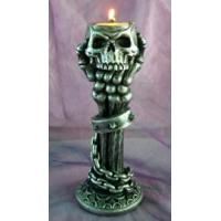 Polyresin Halloween Skeleton Tea-light Holder