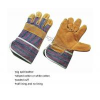 Buy cheap Pig split leather working gloves product