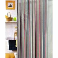 Red And Grey Shower Curtain