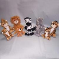 Buy cheap PLUSH 5 TD WILD BUNCH/7.5 5 ASSTD WILD ANIMALS 08DSF324 product