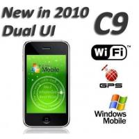 Buy cheap C9 Dual UI 3.5 inch Touch Screen Windows Mobile 6.5 Built in GPS WIFI 4GB 8GB from wholesalers