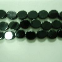 Carved products 7x8mm flat oval in black onix
