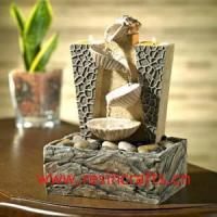 Buy cheap Resin Tabletop Fountain with Candle Holder product