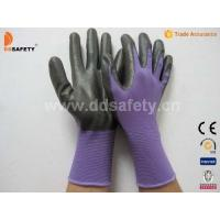 Buy cheap Violet nylon with black nitrile glove-DNN810 product