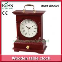 Buy cheap WK302624.5x31.5 cm Green product timber promotional desk clock product