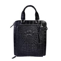 Buy cheap Classical design daily use small size black crocodile leather men handbag factory from wholesalers