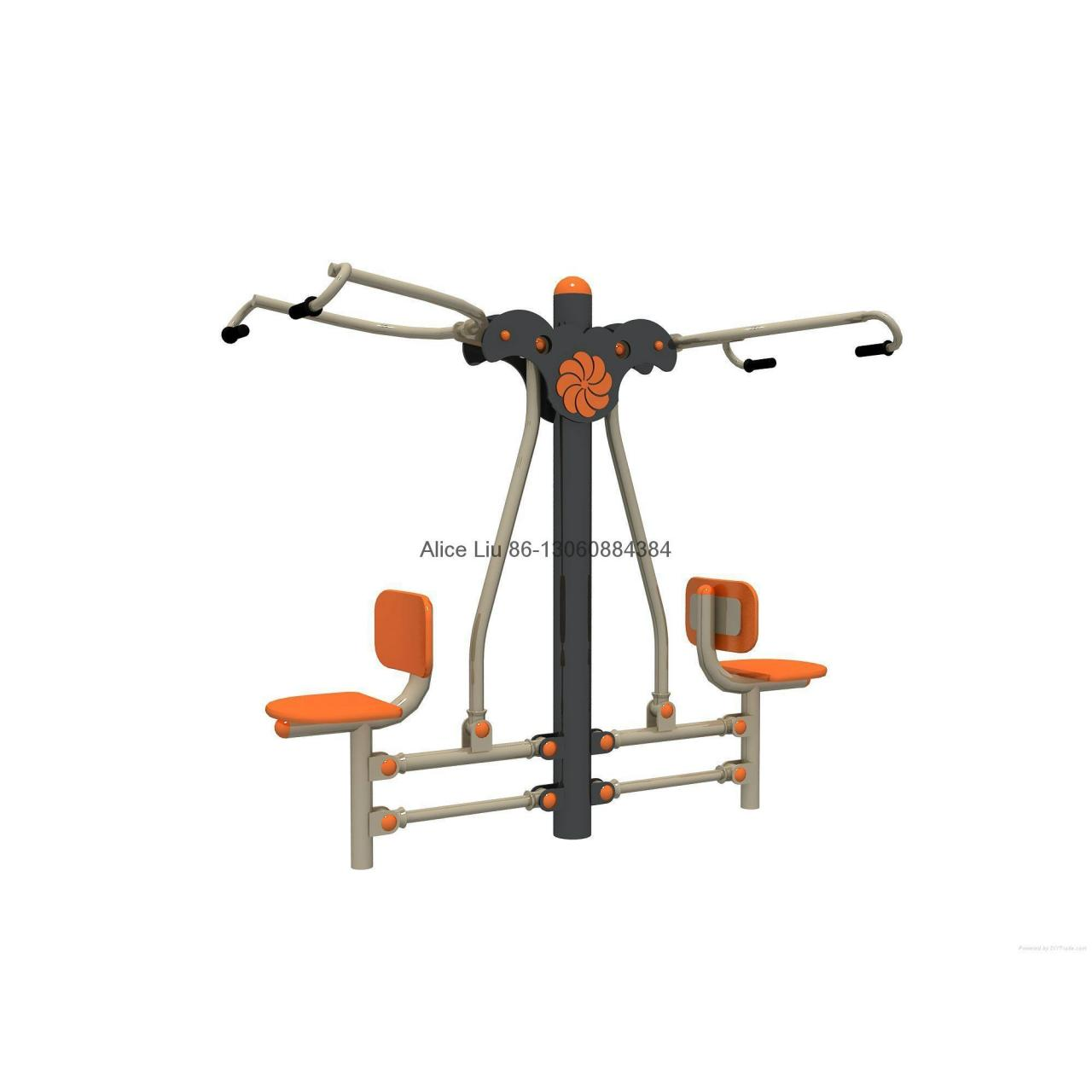 Buy cheap Double sit pull trainers B outdoor fitness equipment manufacturer product