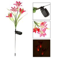 China Reson Solar Powered Lily Flowers Garden Lights wholesale