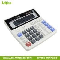China Desktop office stationery white classical 12 digits LCD desktop calculor on sale