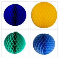 Buy cheap Display Decorations Flame Resistant Honeycomb Paper Ball Hanging Decoration product